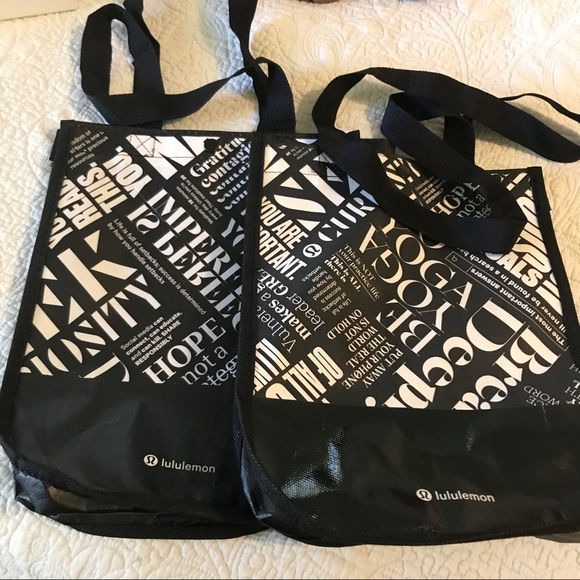 lululemon athletica Handbags - Bundle of two lululemon reusable bag
